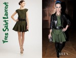 Katy Perry's Yves Saint Laurent Jacquard Dress