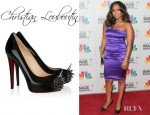 Keshia Knight Pulliam's Christian Louboutin Asteroid Suede And Patent Leather Pumps
