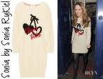 Kimberley Walsh's Sonia by Sonia Rykiel Intarsia Cotton Sweater Dress