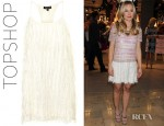 Kristen Bell's Topshop Fringe Racer Back Dress