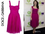 Kristin Davis' Dolce & Gabbana Layered Sleeveless Dress