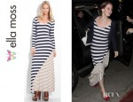 Lana Del Rey's Ella Moss Chelsea Striped Maxi Dress