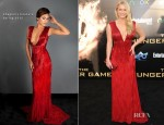 Leven Rambin In Chagoury Couture - 'The Hunger Games' LA Premiere