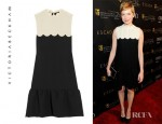 Michelle Williams' Victoria, Victoria Beckham Scalloped Crepe Dress