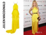Nicole Richie's Julien Macdonald Empire Layered Silk Satin And Chiffon Gown