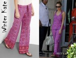 Nicole Richie's Winter Kate Pink Malati Printed Trousers
