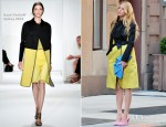 On The Set Of Gossip Girl With Blake Lively In Reed Krakoff