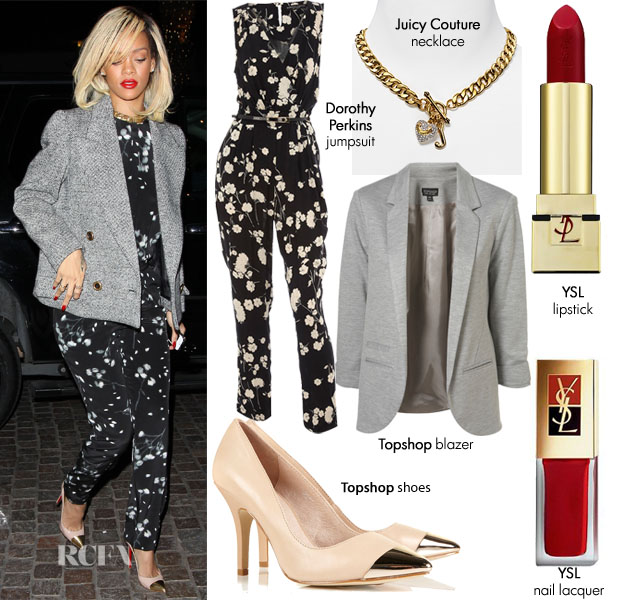 Steal Her Style Rihanna S A L C Jumpsuit Red Carpet