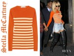 Rihanna's Stella McCartney Striped Fine Knit Wool Sweater