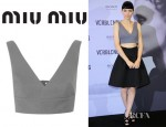 Rooney Mara's Miu Miu Cropped Cotton Top