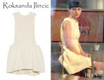 Rooney Mara's Roksanda Ilincic Agnes Pleated Cotton Blend Dress