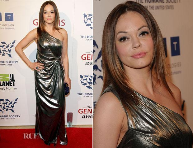 Rose McGowan In Alberta Ferretti - 26th Annual Genesis Awards - Red ...