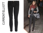 Jessica Alba's Current/Elliott Stiletto Polka Dot Low Rise Jeans