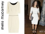Salma Hayek's Stella McCartney Two Tone Jersey Dress