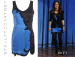 Salma Hayek's Stella McCartney Fluid Satin Dress With Wave Appliqué