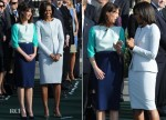 Samantha Cameron In Roksanda Ilincic & Michelle Obama In Zac Posen - White House Official Welcoming Ceremony