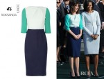 Samantha Cameron's Roksanda Ilincic Beatrice Colour Block Wool Crepe dress