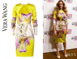 Sarah Jessica Parker's Vera Wang Printed Stretch Silk Satin Dress