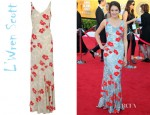 Shailene Woodley's L'Wren Scott Floral Printed Georgette Maxi Dress
