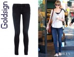 Taylor Swift's Goldsign Lure Mid Rise Leggings Style Jeans