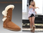 Vanessa Hudgens' Australia Luxe Collective Nordic Angel Short Shearling Boots