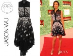 Zoe Saldana's Jason Wu KAWS Printed Silk Chiffon Dress