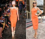 Abbey Clancy In Victoria Beckham - Grosvenor House Hotel