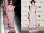 Alessandra Mastronardi In Valentino - 'To Rome With Love' Rome Premiere