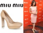 Alexandra Chando's Miu Miu Leather Platform Pumps