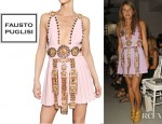 Anna Dello Russo's Fausto Puglisi Embroidered Wool Crepe Dress