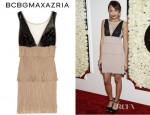 Ashley Madekwe's BCBG Max Azria Averil Crinkled Crepe Dress