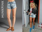 Ashley Tisdale's Mink Pink Slasher Flick Shorts