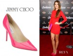 Audrina Patridge's Jimmy Choo Anouk Patent Leather Point Toe Pumps