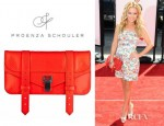 Becki Newton's Proezna Schouler Leather Clutch