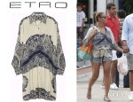 Beyonce Knowles' Etro Oversized Printed Silk Shirt