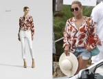 Beyonce Knowles In Gucci - St Barts