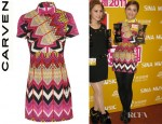 Charlene Choi's Carven Ikat Printed Cotton Dress