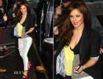 Cheryl Cole In Current/Elliott, Alexander Wang & Boy. by Band of Outsiders - BBC Radio One Studios