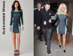 Christina Aguilera's Alexander Wang Engineered Track Suit Dress