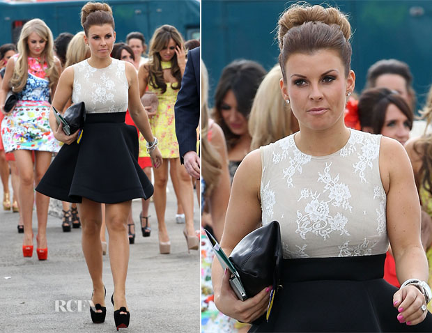 213a54ed03e0 Coleen Rooney In Philip Armstrong – John Smith s Grand National Ladies   Day. More WAG watch as Coleen Rooney ...