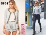 Emma Roberts' ASOS Petite Exclusive Jacket With Embellishment