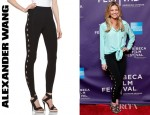 Erin Andrews' Alexander Wang Stretchy Viscose Leggings