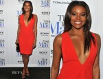 Gabrielle Union In Bill Blass - 'Think Like A Man' New York Premiere