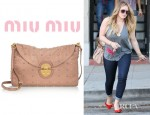 Hilary Duff's Miu Miu Studded Leather Clutch