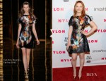 Jacqueline Emerson In Cynthia Rowley - NYLON Magazine 13th Anniversary Celebration