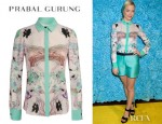 Jaime King's Prabal Gurung Printed Silk Shirt