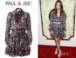 Jamie Chung's Paul & Joe Multi Colour Floral Print Silk Dress