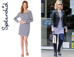 January Jones' Splendid Striped Dress