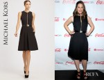 Jennifer Garner's Michael Kors Cotton Zip Front Dress