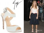 Jennifer Lawrence's Giuseppe Zanotti Python Skin Open Toe Sandals